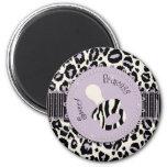 Cheetah Girl Magnet Lilac