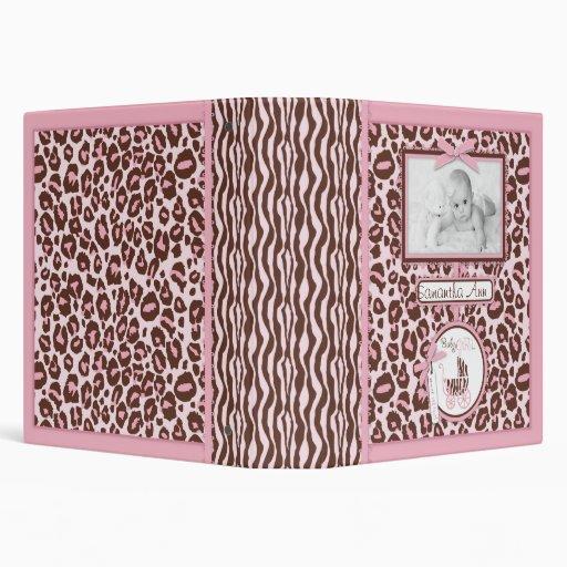 Cheetah Girl Photo Album Pink 3 Ring Binders