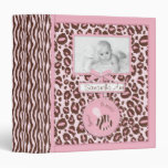 Cheetah Girl Photo Album Pink B 3 Ring Binders