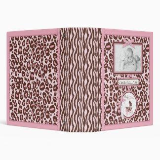 Cheetah Girl Photo Album Pink Vinyl Binders