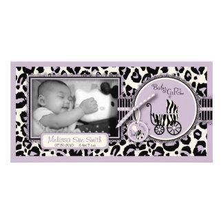 Cheetah Girl Photo Card Lilac