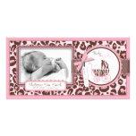 Cheetah Girl Photo Card Pink