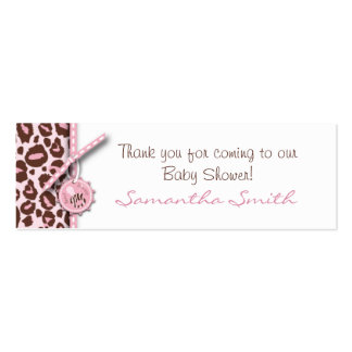 Cheetah Girl Skinny Gift Card Pink B Double-Sided Mini Business Cards (Pack Of 20)
