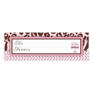 Cheetah Girl Skinny Gift Tag Business Card Templates