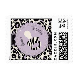 Cheetah Girl Stamp Lilac C