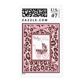 Cheetah Girl Stamp Pink A
