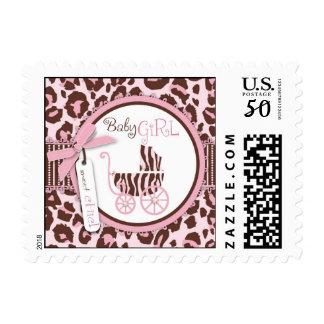 Cheetah Girl Stamp Pink B2