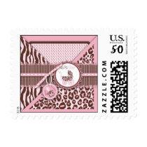 Cheetah Girl Stamp Pink C