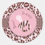 Cheetah Girl Sticker Pink 2