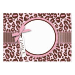 Cheetah Girl Table Card Flat Mini R Large Business Cards (Pack Of 100)