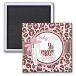 Cheetah Girl TY Magnet Pink A2