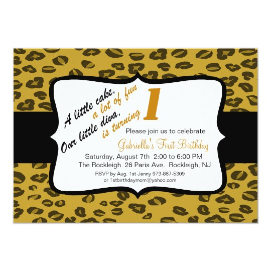 Cheetah Girls First Birthday Invite