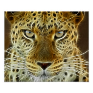 Cheetah Glowing Electricity 2 Poster