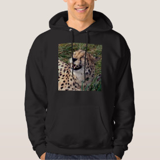Cheetah_Grins,-Mens_Black_Hooded_Sweatshirt, Hoodie