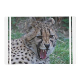Cheetah Growl Laminated Place Mat