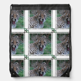 Cheetah Growl Drawstring Backpack