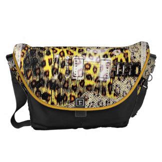 Cheetah Guitar Messenger Bag