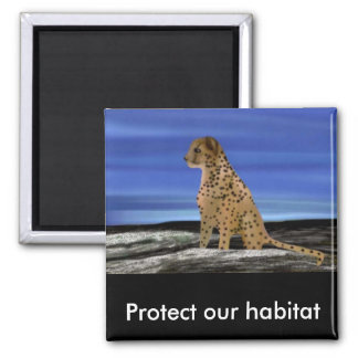 Cheetah Habitat Magnet
