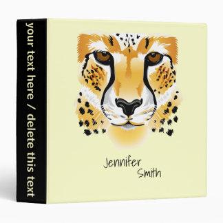 cheetah head close-up illustration 3 ring binder