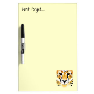 cheetah head close-up illustration dry erase board