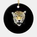 Cheetah Head Drawing Christmas Ornament