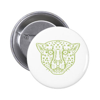 Cheetah Head Mono Line Button
