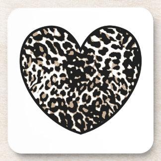 Cheetah Heart Print Pattern 2 Coaster