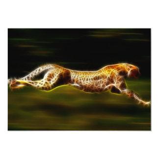 Cheetah Hunting His Prey 5x7 Paper Invitation Card