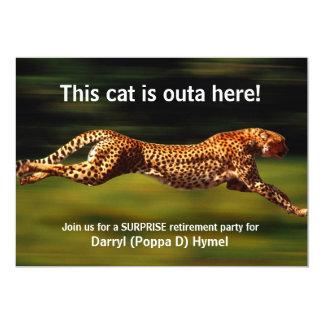 Cheetah Hunting His Prey (Personalized) 5x7 Paper Invitation Card