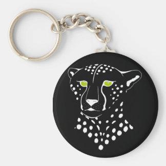 Cheetah Inverted Keychain