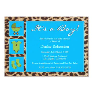 Cheetah - It's a Boy! - Baby Shower Invitation