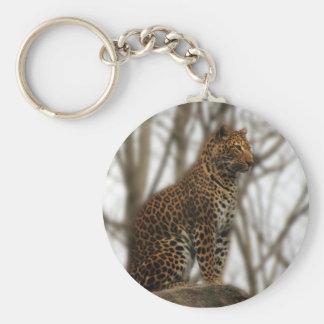 Cheetah Keycahin Basic Round Button Keychain
