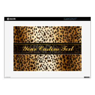 Cheetah Leopard Faux Animal Print Decals For Laptops