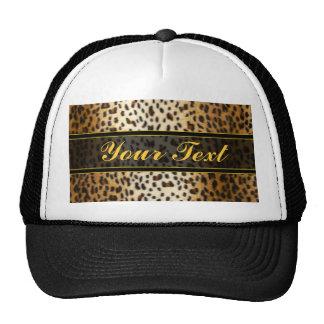 Cheetah Leopard Faux Animal Print Trucker Hat