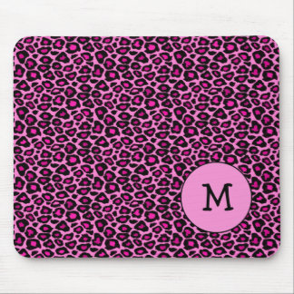 Cheetah / Leopard Hot Pink Mouse Pad