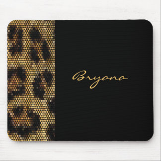 Cheetah Leopard Print Animal Sparkle Mouse Pad