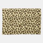 Cheetah Leopard Print Black Brown Spots Pattern Towels
