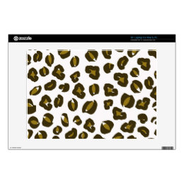Cheetah leopard skin spots print nature pattern laptop decal