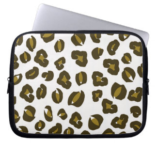 Cheetah leopard skin spots print nature pattern laptop sleeve