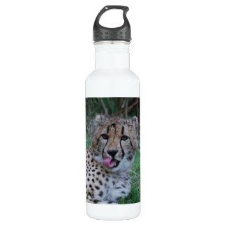 Cheetah Licking His Chops 24oz Water Bottle