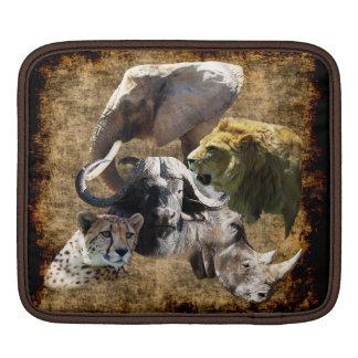 Cheetah, Lion, Elephant, Rhino, Buffalo, Africa iPad Sleeve