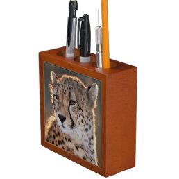 Cheetah looking away Pencil/Pen holder