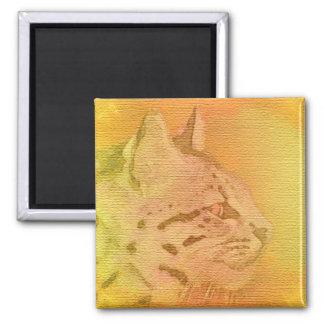 cheetah 2 inch square magnet