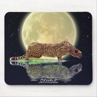 Cheetah & Moon Big Cat Wildlife Art Mousepad