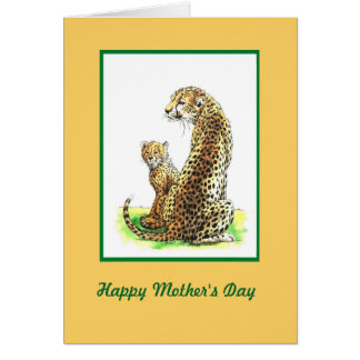 Cheetah Mother's Day card