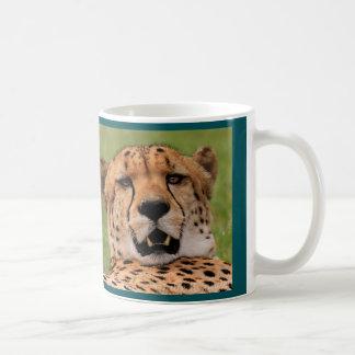 Cheetah mug - coloured background