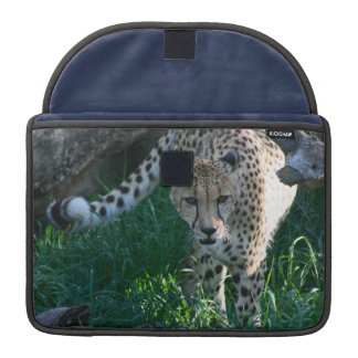 Cheetah on the hunt sleeves for MacBooks