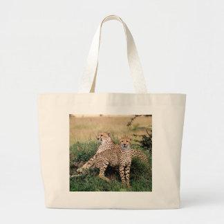 Cheetah Pair Jumbo Tote Bag