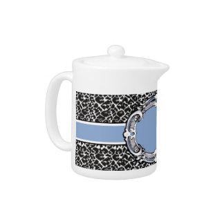 Cheetah Pattern Blue Label Teapot
