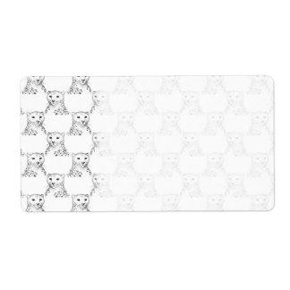 Cheetah Pattern. Label